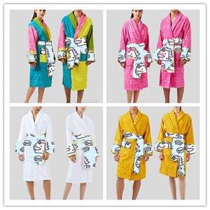 wholesale Designer Brand unisex robe bathrobe cotton sleep night robe high quality comfortable robe breathable women clothes add color 1739