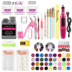 COSCELIA 8g Acrylic Powder Set For Nail Extension Tips Acrylic Gel For nails Extension Nail Set Art Design Decoration
