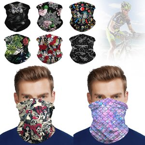 Masque Balaclava Tube écharpe Neck Gaiter équitation visage extérieur Couverture Bandana Bandeau Mode Fack Macks