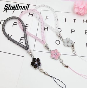 SHELLNAIL Mesh Star Mobile Phone Straps Camellia Hand Ropes Pendant Couple Holding Rope For Key ID Card Phone Lanyards