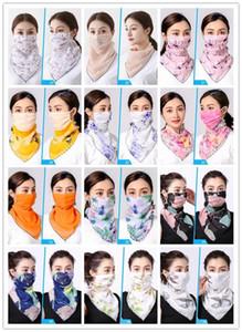 EE.UU. diseño fresco stock Máscaras Montar la gasa de la cara de la manera imprimió Mujer reutilizable Boca Máscara colorida FY6134 máscara de protección solar de la bufanda lavable