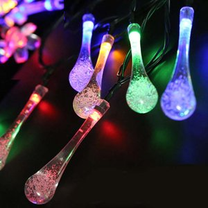 Solar string lights water drop string lights Christmas decoration lanterns led waterproof string lights