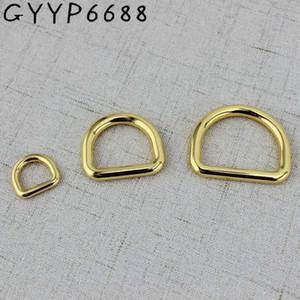 High quality 10pcs 50pcs 13mm 32mm Deep gold Tone Dee D ring match buckle Cast Solid Custom manufactured Cast Solid Buckles UW9B#