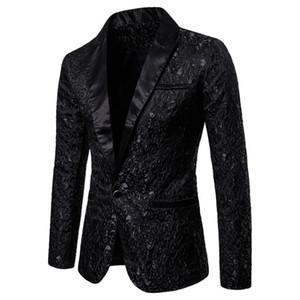 Men's Suits & Blazers Wear Autumn And Winter Male Floral Party Dress Suit Stylish Dinner Jacket Wedding Men Prom Tuxedo Clothes Man Coats