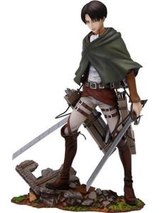 Figura de acción del anime Shingeki No Kyojin Ataque En Titán Levi Levi Rivaille Ackerman PVC de Colección Modelo Niños Juguetes Muñeca T200321 regalo