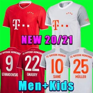 Bayern de Munique 20 21 SANE camisa de futebol camisa de futebol LEWANDOWSKI HERNANDEZ NIANZOU MULLER Men + Crianças definir MUNCHEN 120 uniforme 2020 2021