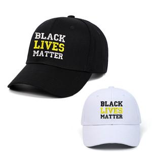 Schwarz Lives Matter Stickerei-Hut Baseballmützen I nicht Adjustable Sun Cap Black White Letter Frauen Männer Party-Hüte DBC BH3929 atmen