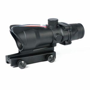 Trijicon الصيد نطاق acog 1x32 التكتيكية الأحمر دوت البصر الحقيقي الألياف الخضراء البصرية riflescope مع القطار picatinny ل m16 بندقية
