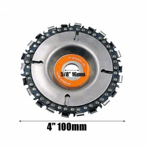 1PC 4 Inch Grinder Disc With Chain 22 Tooth Fine Cut Chain Set for 100 115 Angle Grinders Wood Carving Disc Cut Chainsaw TZkh#