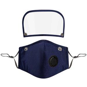6style 2 1 Yüz Kalkanı Tam Yüz İzolasyon Maskeleri Anti-sis Yağ Koruyucu Kapak Vana Filtre GGA3583-14 Maske PET Ekranı Maske