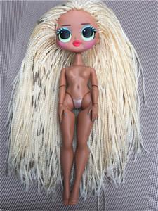 Rare Collection Fashion Big Sister Doll Head lols Girl Doll Original Body Toy Hair DIY Doll Part Girl Fashion DIY Dressing Toy T200712