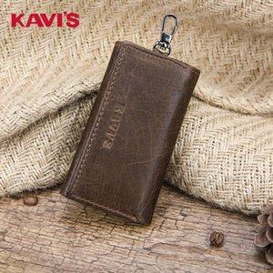 KAVIS / KAVI petite clé de neuf cas léger simple mode en cuir porte-monnaie multi-fonctionnelle sac de cas de clé de sac caseSmall