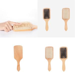 أدوات حماية البيئة مجلس Gasbag تدليك الكبير مشط مشط Woodiness فرشاة الشعر التصميم ارتداء مقاومة وصول جديد 5dy E2