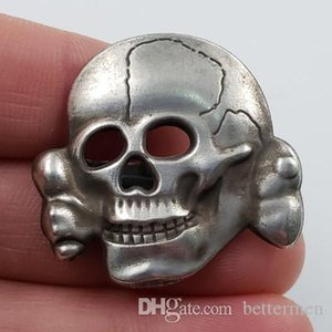 2pcs lot Germany Army officer elite skull hat pin badges special collection wholesale supplier