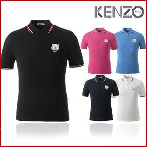 brand designer Polo Kenzo uomini all'ingrosso-più il formato US di grande formato multi ricamo Polo Uomo brand design Polo ricamo