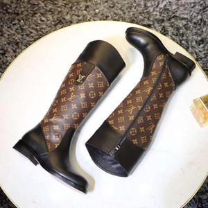 Yüksek Kaliteli Kadınlar Boots Moda Yuvarlak Burun Kama Platformu Topuklar Boots Fermuar Ayakkabı Kadınlar Plus Size Lüks Bayan Çizme Botaş De Mujer Ayakkabı