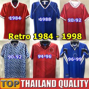 Retro 1984 1988 Manchester unido United camisetas de fútbol 1990 92 94 96 98 Man Utd RONALDO BECKHAM CANTONA KEANE SCHOLES GIGGS Vintage clásico Camiseta de futbol
