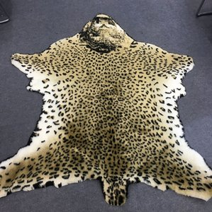 Artificial fur comfortable and nice rug and carpet with different animal pattern designed used on the floor