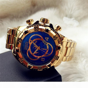 R Swiss Cosc Invicta Very Large Rotating Dial Super Quality Men &#039 ;S Watch Tungsten Steel Multifunction Gold Quartz Watch