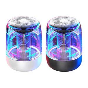 wireless bluetooth speaker C7 new trending BT5.0 Transparent LED light Subwoofer TWS 6D Surround HiFi Stereo TF card handsfree call Speaker