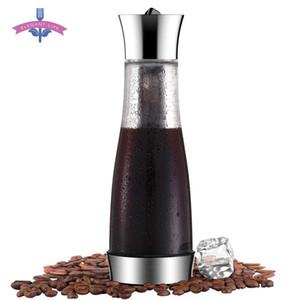 Kahve Makinesi Pot Mocha Soğuk Brew Cafetera Filtre Kahve Pot Sızdırmazlık Kalın Cam Çay demlik Percolator Aracı Espresso Makinesi T200523