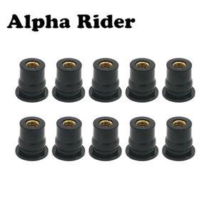 """Covers & Ornamental Mouldings 10 M6 Rubber Well Nut Universal Motorcycle Windscreen & Fairing 6mm 1 2\"""" Wellnuts Wellnut"""