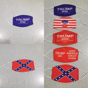 Trump 2020 Mask 5 Farben American National Flag-Antistaub-windundurchlässiges Donald Trump Designer Masken LJJO8263