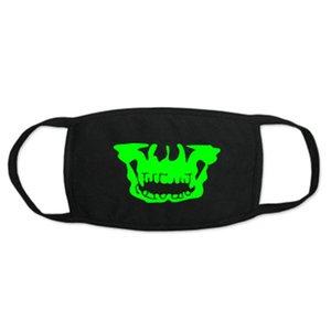 Glow Máscaras Zan Sombrero Glow In The Dark Skull Face neopreno mitad de la cara Maskone Tamaño Zan Sombrero PbpXo qpseller