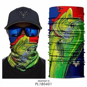 스카프 스키 발라 클라 낚시 3D 낚시 버프 두건 피셔 목 스카프 풀라 야외 UV Headwears 원활한 Banadana 버프