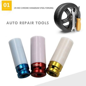 3pcs 17  19 21mm Colorful Sleeve Tire Protection Sleeve Wall Deep Impact Nut Socket High-carbon Alloy Steel Wheel Household Tool DyFT#