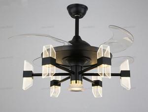 42 inch minimalist Ceiling ventilator lamp fan chandelier with fans living room bedroom fans lamps house dining room lighting LLFA