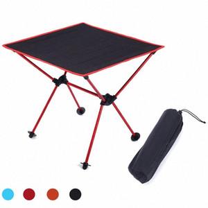 HooRu aluminium léger Table de pique-nique Pêche Plage Table pliante d'extérieur Portable Camping Backpacking Roll Up Pliable Bureau 3EOp #