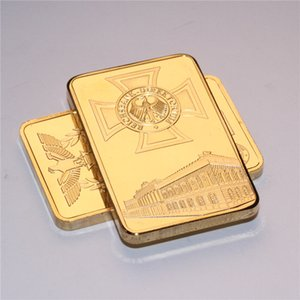 German Eagle Gold Bar One Ounce Deutsche Iron Cross Bar 1 OZ Germany Gold Plated Bullion Bar