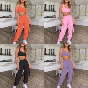 HAOYUAN Two 1Pcs Set Summer Outfits Sexy Off Sholder Strapless Crop Tops+Wide Leg Pants Suit 2 1Pcs Women Clothes Matching Set#816