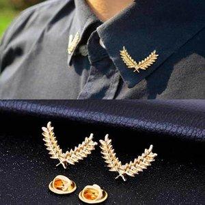 KISSWIFE мода костюма рубашка пшеницы ухо трехмерного воротник контактной брошь пара мужчины и женщины, ювелирные изделия