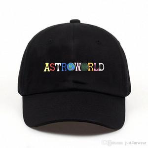 قبعات رجل إمرأة ASTROWORLD موضة القبعات قبعات رسالة طباعة ذكر الهيب هوب شارع العليا قبعات البيسبول قبعات عشاق aWka #