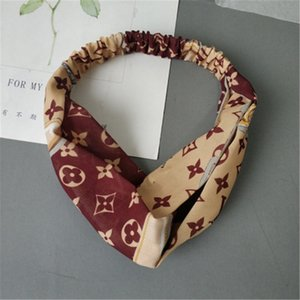 Imitation designer Silk Headband With Elastic Ladies Printing Head Belt Fashion Designer Headwraps 4 Colors Whoelsale