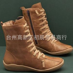 / зима British Wind рабочая одежда обувь сапоги большие высокие верхние короткие сапоги женские случайные обувь женская