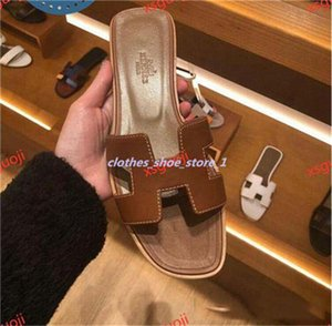 xshfbcl 2020 Free delivery French new Lian fashion summer slippers women's leather thick and comfortable shoes flip flop heel sandals 36-40