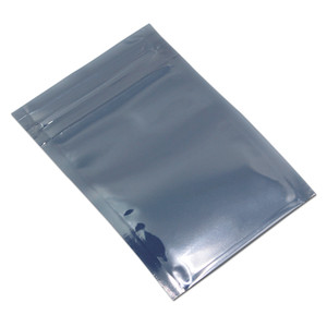 100Pcs Lot Antistatic Aluminum Storage Bag Zipper Lock Resealable Anti Static Pouch for Electronic Accessories Package ESD Bags