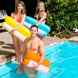 Fashion Inflatable Floating Water Hammock Lounge Bed Chair Summer Kickboards Pool Float Swimming Pool Inflatable Bed Beach Playing Tool