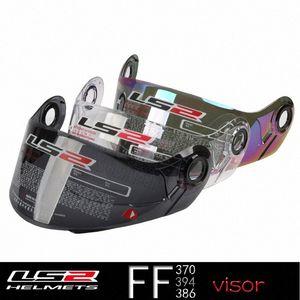 LS2 FF370 casco de la motocicleta de la lente para LS2 Ff325 tirón encima del casco de vidrio FF394 Para modular Cascos Escudo FF386 Multicolor visera Deportes Mo hTND #