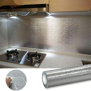 Carta da parati autoadesiva del PVC per la cucina Walls olio-proof impermeabile Sbucciare e Stick contatto di carta per la casa Immagini per pareti rimovibili