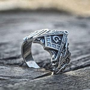 Men Fashion Freeмазонное кольцо 316L из нержавеющей стали Масонские кольца Masonic Conse Rings Freemasonry Knights Templarar Jewelry Размер 8-13