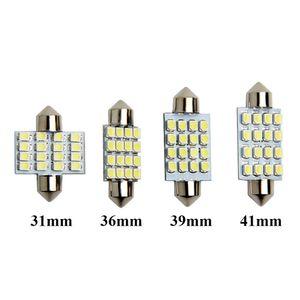 10pcs Festone 31 millimetri 36 millimetri 39 millimetri 41 millimetri di C5W LED delle lampadine della cupola 16 SMD 3528 Luci interne auto LED auto per lettura lampade a luce bianca 12V