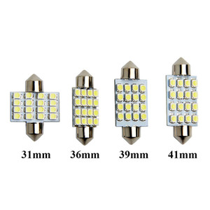 10 Ad fistosu 31mm 36mm 39mm 41mm C5W LED Kubbe Ampuller 16 SMD 3528 Otomobil için LED İç Işıklar Oto Harita Okuma Lambaları Beyaz 12V