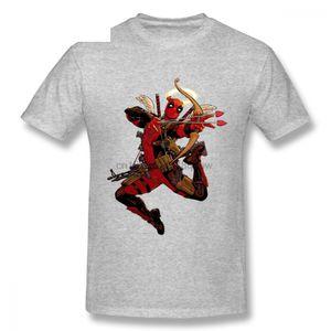 Retro Deisgn Cupido Deadpool camisetas Menino frete grátis em torno do pescoço T elegante camisa de New Arrival
