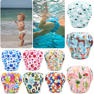 Unisex free Size Waterproof Adjustable Swim Diaper Pool Pant Swim Diaper Baby Reusable Washable Pool Diaper 40 Color M051A