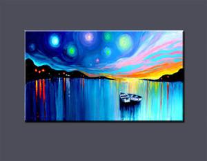 Açık Tuval Wall Art Canvas Resimler 200.727 Boyama Büyük Modern Soyut Sanat Tekne Ev Dekorasyonu Handpainted HD Baskı Yağ