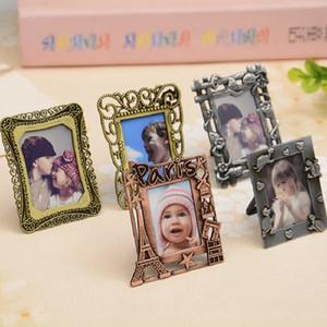 Новый творческий сплав металла фото рамка 2 дюйма разнообразие форм ретро фото рамка Keychain детей картина
